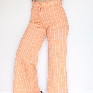 Vintage 70s Plaid Bell Bottom Pants